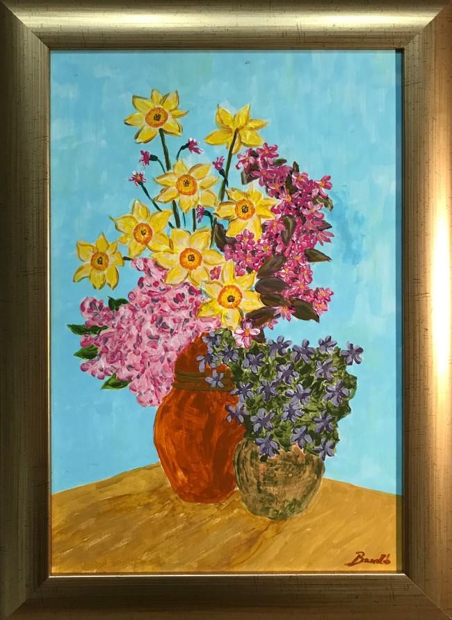 Nagy Bandó András: Kettős virágcsendélet